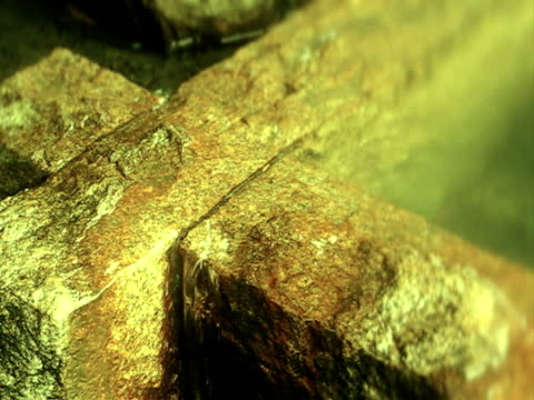 Zen elements, stone and water in traditional Japanese garden. video