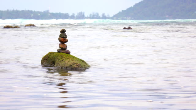 Zen rock in the sea