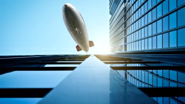 Zeppelin On The Skyscrapers
