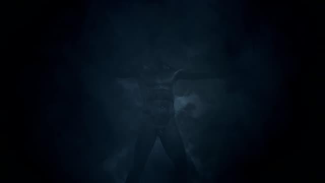 Zeus Sculpture in a Lightning Storm video