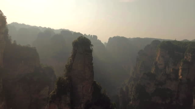 zhangjiajie national forest park, hunan, china - rock formations stock videos & royalty-free footage