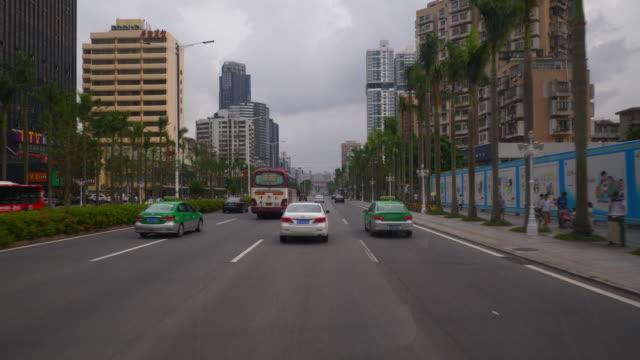vídeos y material grabado en eventos de stock de zhuhai city día tiempo tráfico calle pov panorama 4k china - wuhan