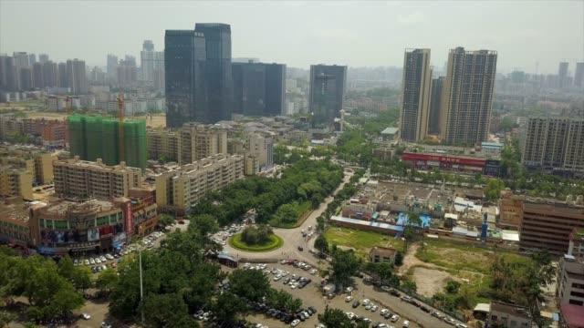 トラフィック通り景観空中パノラマ 4 k 中国珠海 - 広東省点の映像素材/bロール