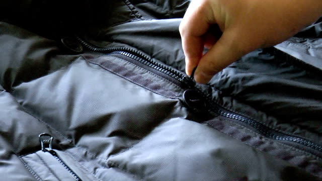 zipper closure on the jacket video