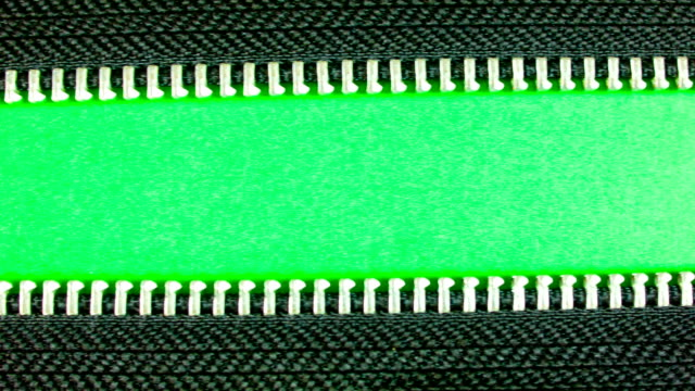 Zipper on green screen. video