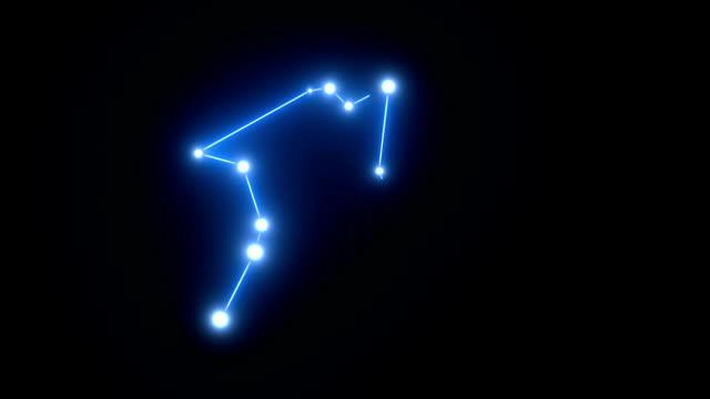 Zodiac Aquarius Star Constellation Forming in Glowing Light video