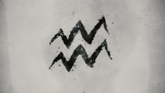 Zodiac sign Aquarius video