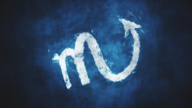 vídeos de stock e filmes b-roll de zodiac sign scorpio - astrologia