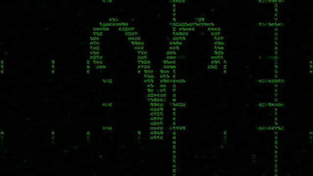 Zodiac Signs Background in a Matrix Style video