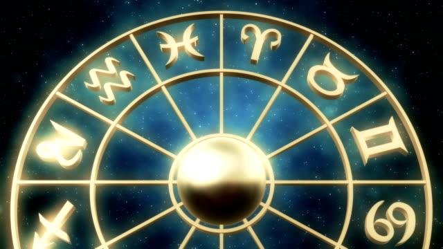 vídeos de stock e filmes b-roll de sinais do zodíaco/loopable - astrologia