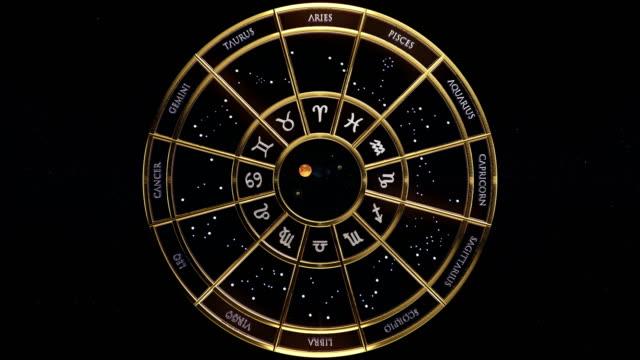 zodiac signs. - venus filmów i materiałów b-roll