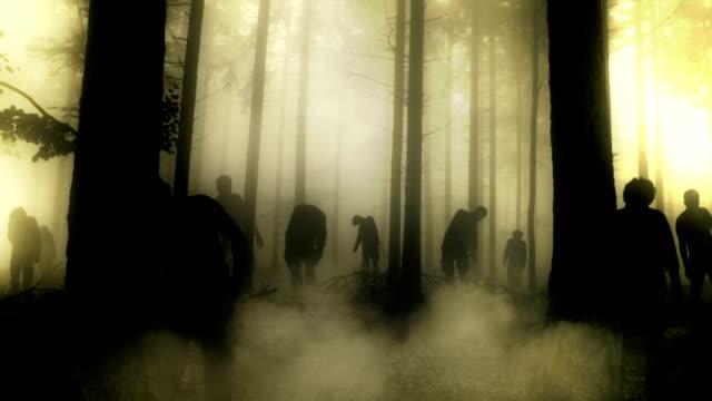 зомби attack - halloween стоковые видео и кадры b-roll
