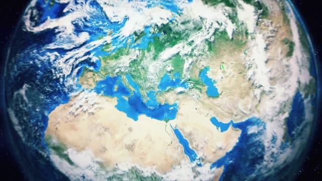 zoom från jorden och tillbaka resa till istanbul dagtid - zoom in bildbanksvideor och videomaterial från bakom kulisserna