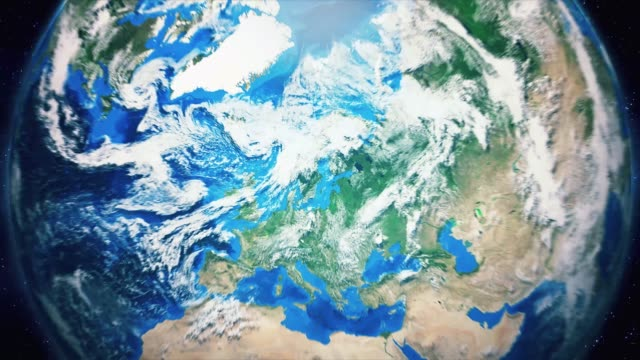 zoom från jorden och tillbaka resa till stockholm dagtid - zoom in bildbanksvideor och videomaterial från bakom kulisserna