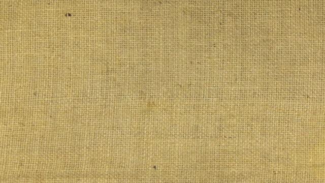 Zoom in burlap texture video