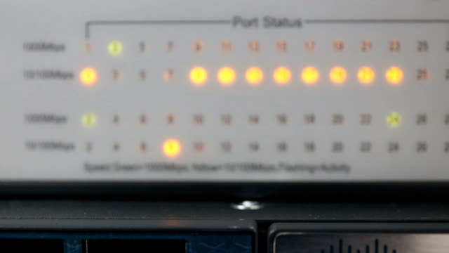 Zoom in Lights and connections status on network server. video