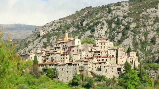 Zoom on the village of Peillon.Côte d'Azur.france.