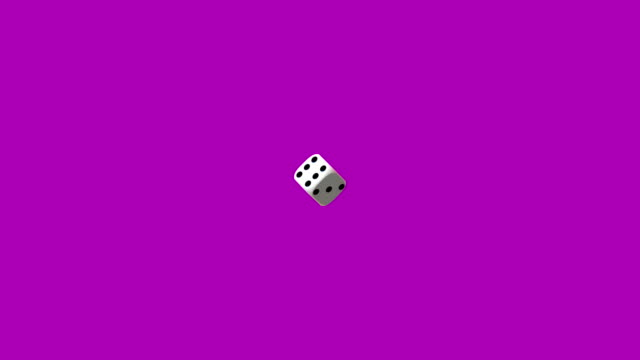 Zoom on white playing dice, rotating on pink background. Zoom on white playing dice, rotating on pink background. rolling stock videos & royalty-free footage