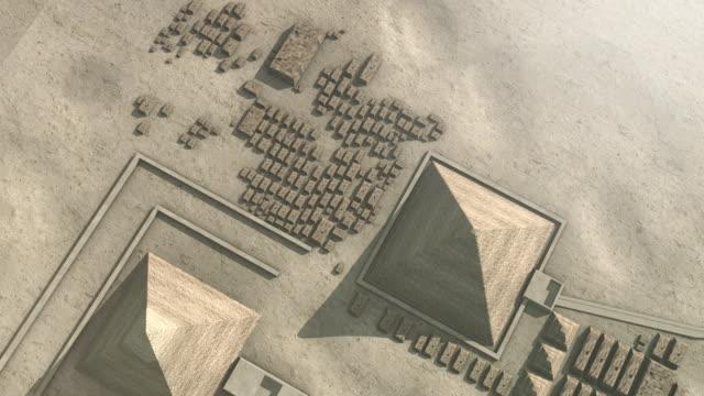 zoom out from giza egypt to the universe - pyramidform bildbanksvideor och videomaterial från bakom kulisserna