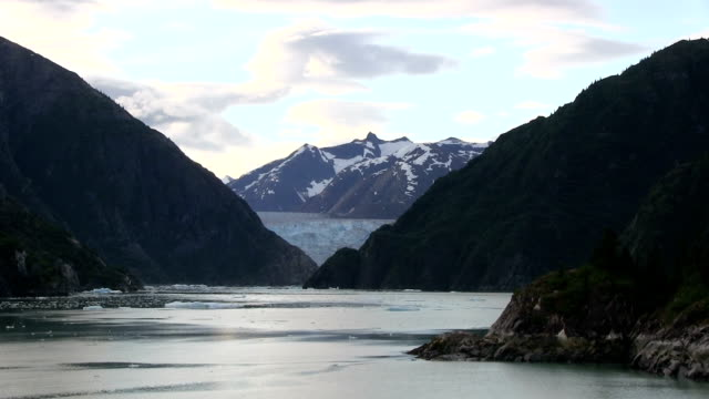 zoom out Glacier in Alaska at Tracy Arm Fjord. video