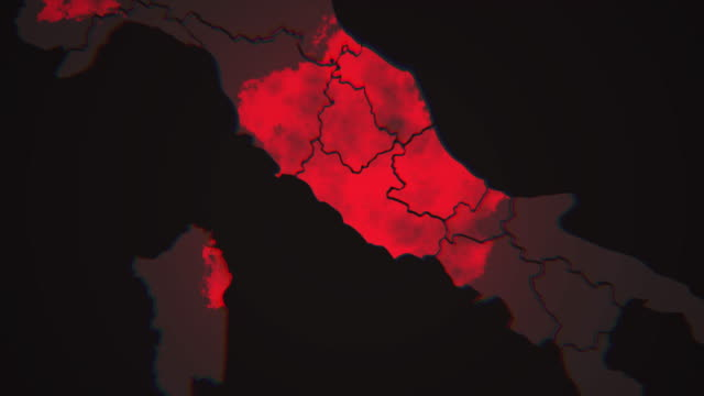 Zoom out of Covid-19 virus spreading in Italy