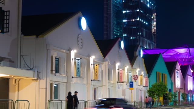Zoom out time lapse building near Clarke quay