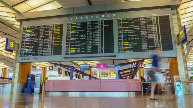 4K Zoom out Timelapse : inside of Changi Airport video