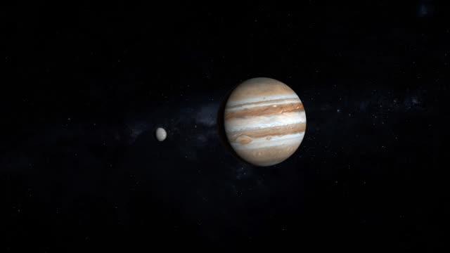 powiększ planetę jowisz w układzie słonecznym - io księżyc filmów i materiałów b-roll