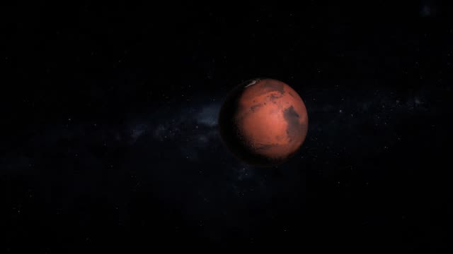 Zoom to Red Planet Mars in Solar System video