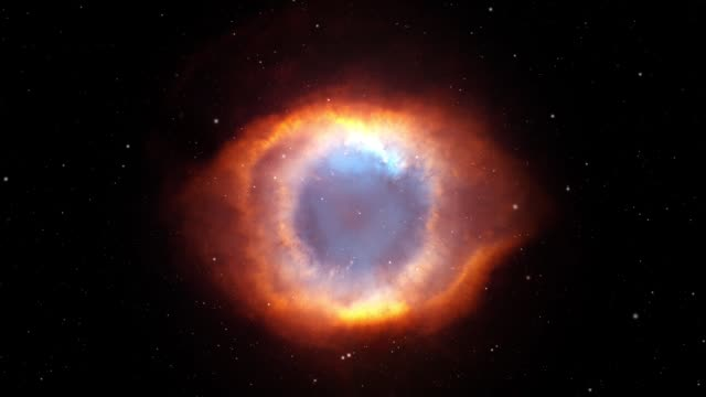 zoomem in gottes auge helix nebula - sternennebel stock-videos und b-roll-filmmaterial