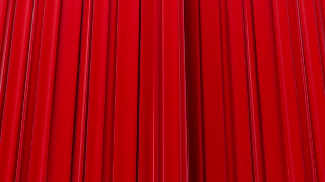 Zooming on Red Curtains, Opening and closing 3d animation, HD 1080, Green Screen. video