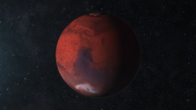 Zooming to Mars Red Planet in Space video
