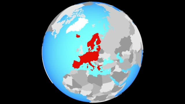 Zooming to Schengen Area members on globe Zoom to Schengen Area members on blue political globe. 3D illustration. 3D model of planet created and rendered in Cheetah3D software 29/09/2018. schengen agreement stock videos & royalty-free footage