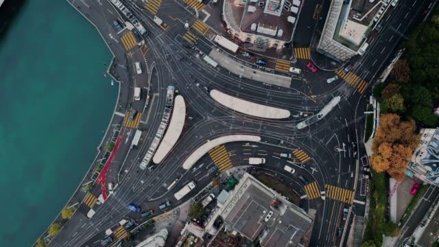 zurich downtown transportation - szwajcaria filmów i materiałów b-roll