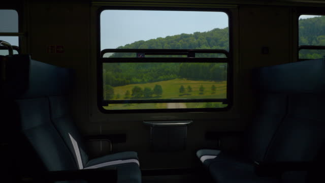 zurich to basel sunny day train road trip passenger seats wagon pov panorama 4k switzerland