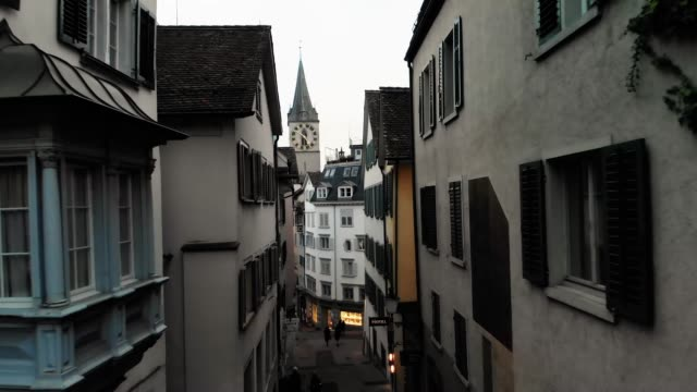 Zurich's Romanesque & Gothic architecture with Church of St. Peter